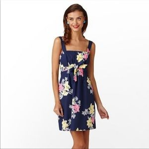 LILLY PULITZER Avaline Lady love navy floral dress